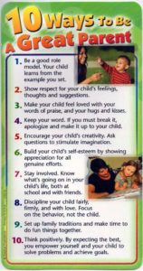 10 Ways to Be a Great Parent