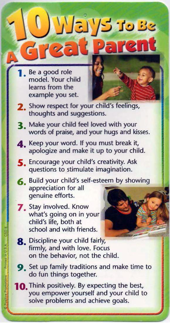 Ways to be a good parent