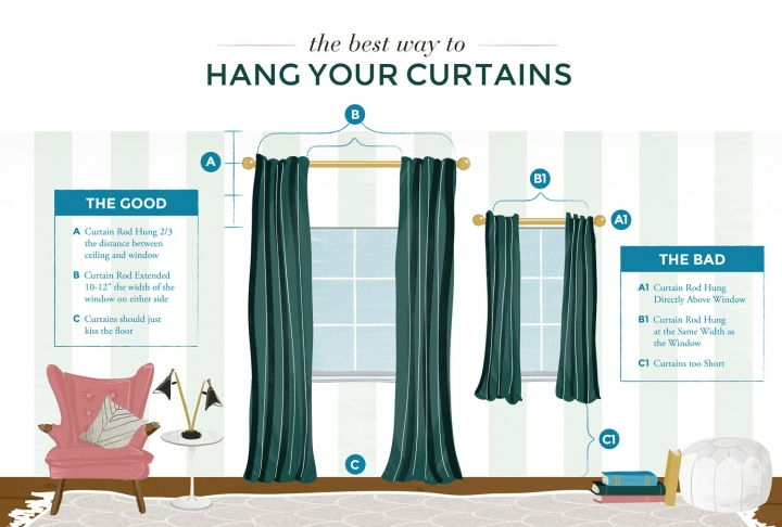 best-way-hang-curtains